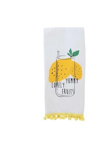 Bella Maison %100 Pamuk Lemon 2′li Mutfak Havlusu Sarı